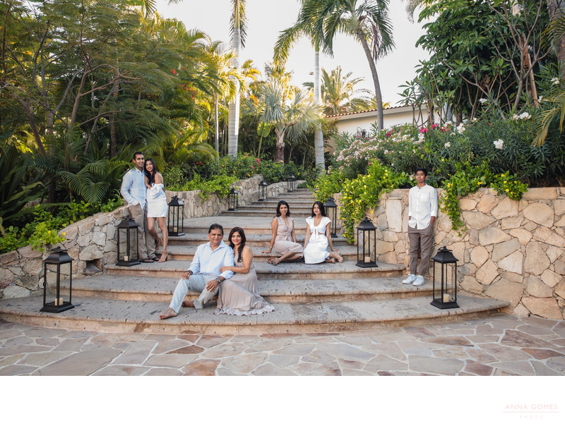 Family portrait at One and Only Palmilla