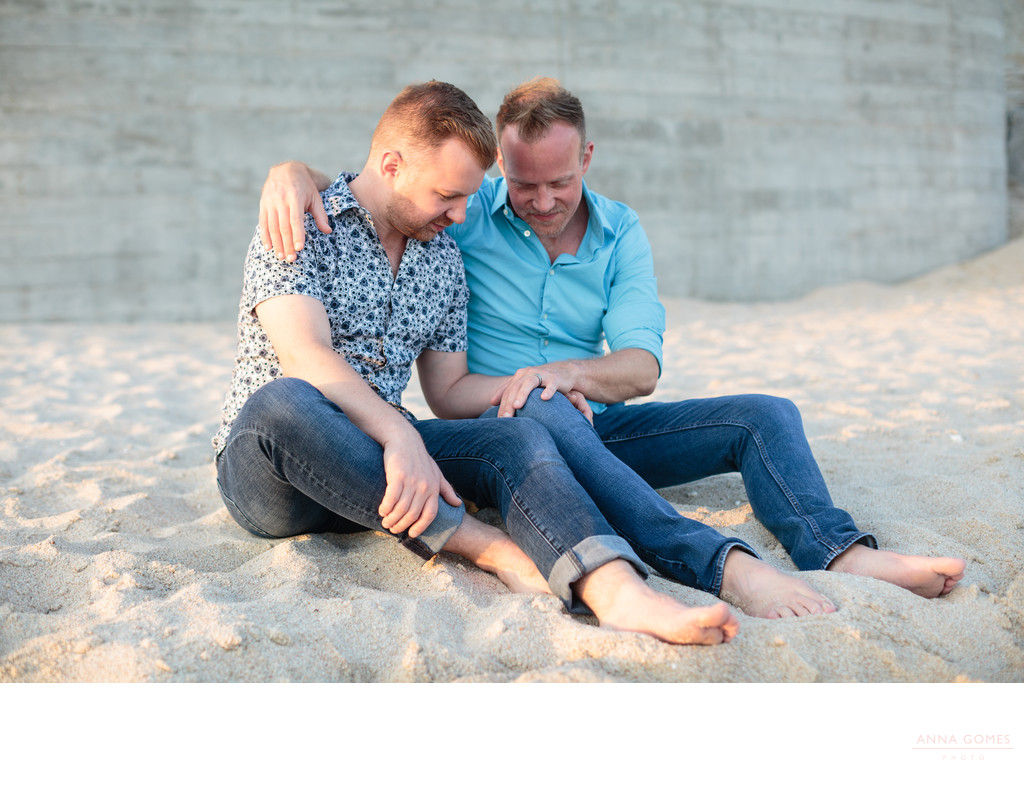 Same Sex Engagement Session in Cabo