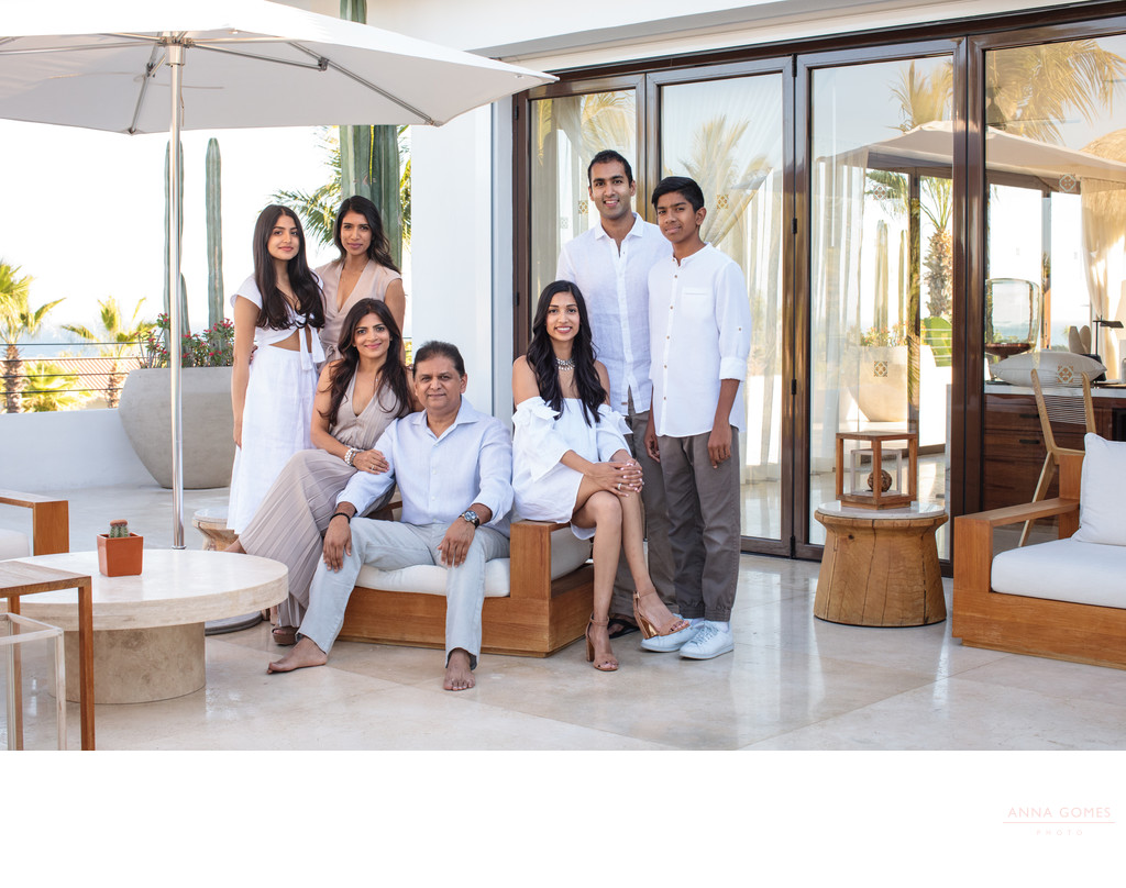 Family portraits at One & Only Palmilla