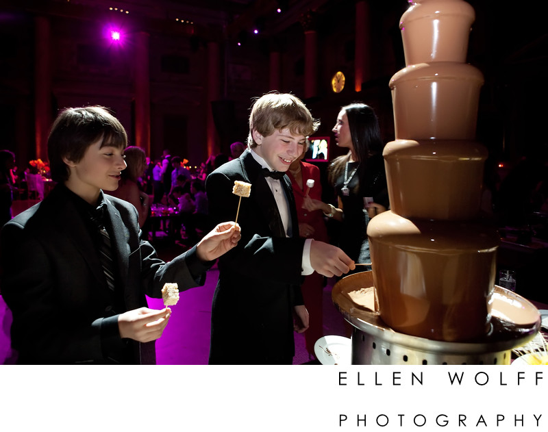 chocolate fountain bar mitzvah capitale event