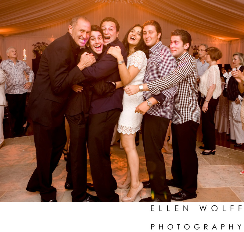 Fun dance floor photo