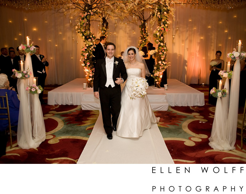 just married at the Garden City Hotel wedding photographer