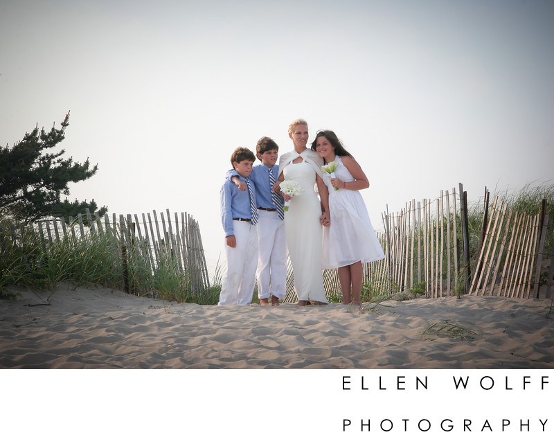 l i beach wedding photo