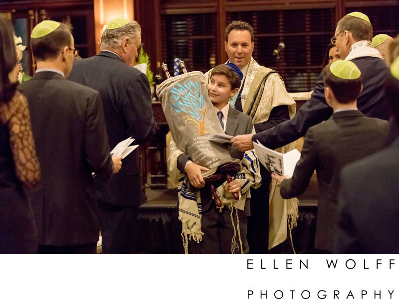 carrying the torah through the congregation