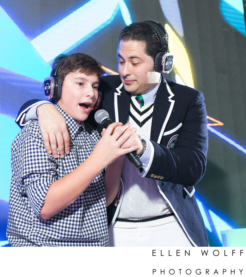 fun silent disco bar mitzvah photo