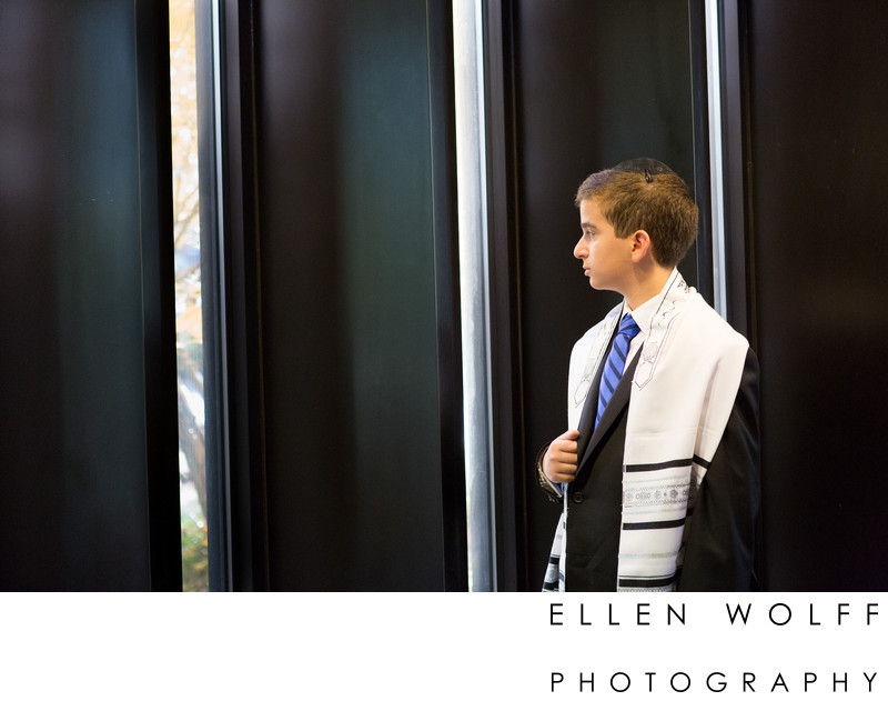 Bar Mitzvah portrait at Temple Beth Torah Melville LI