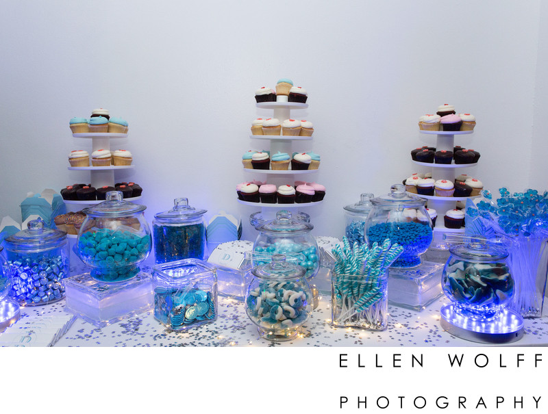 In house copacabana dessert table