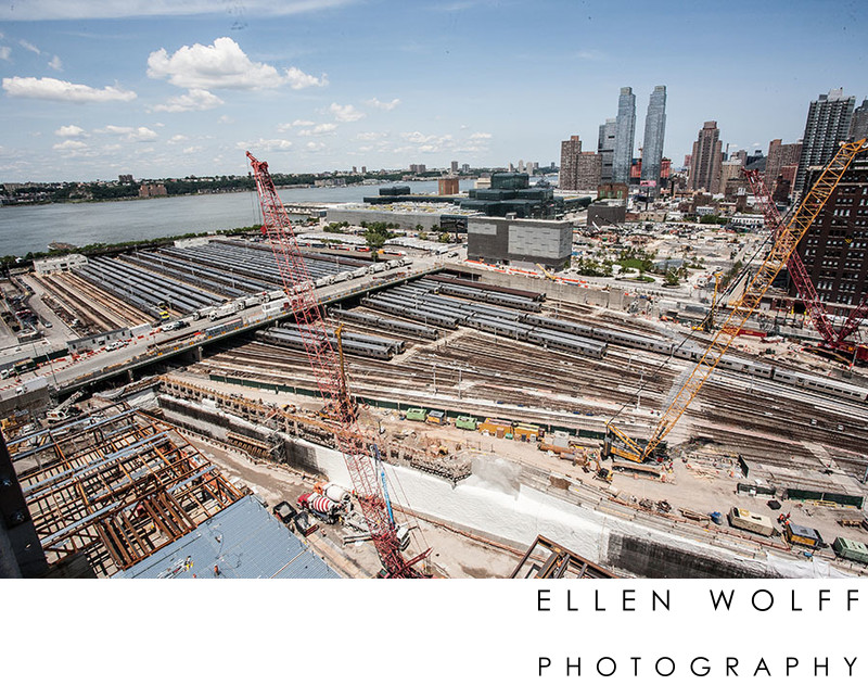 hudson yards construction open air LIRR yard