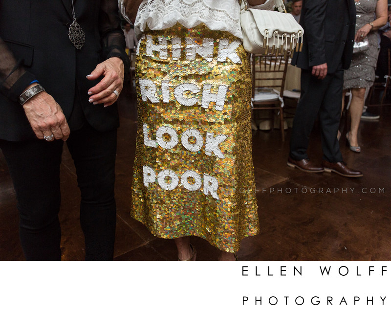 think rich look poor sequin skirt random fashion photo