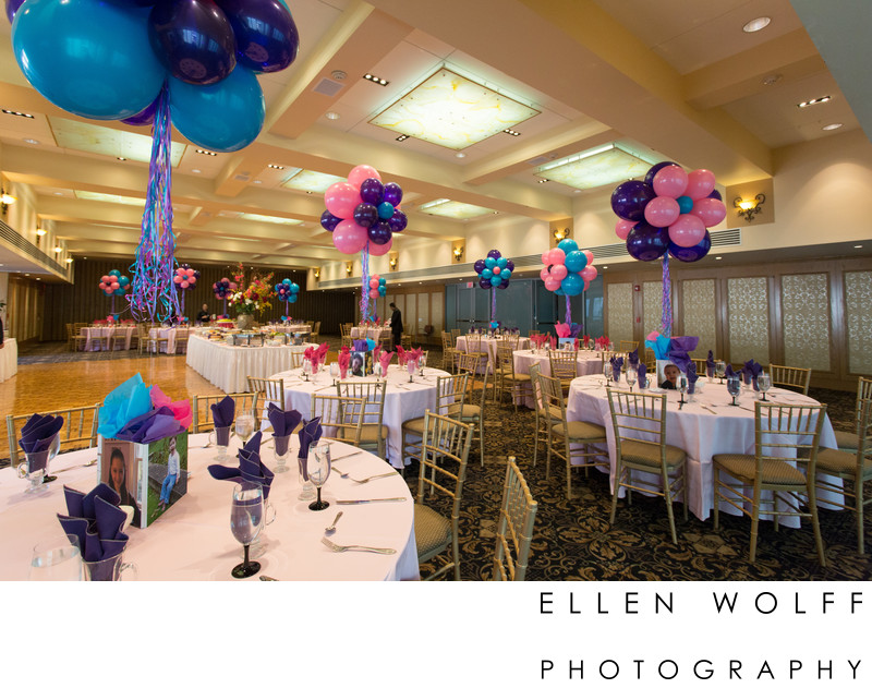 balloon centerpieces Temple Beth El of Great Neck Bat Mitzvah