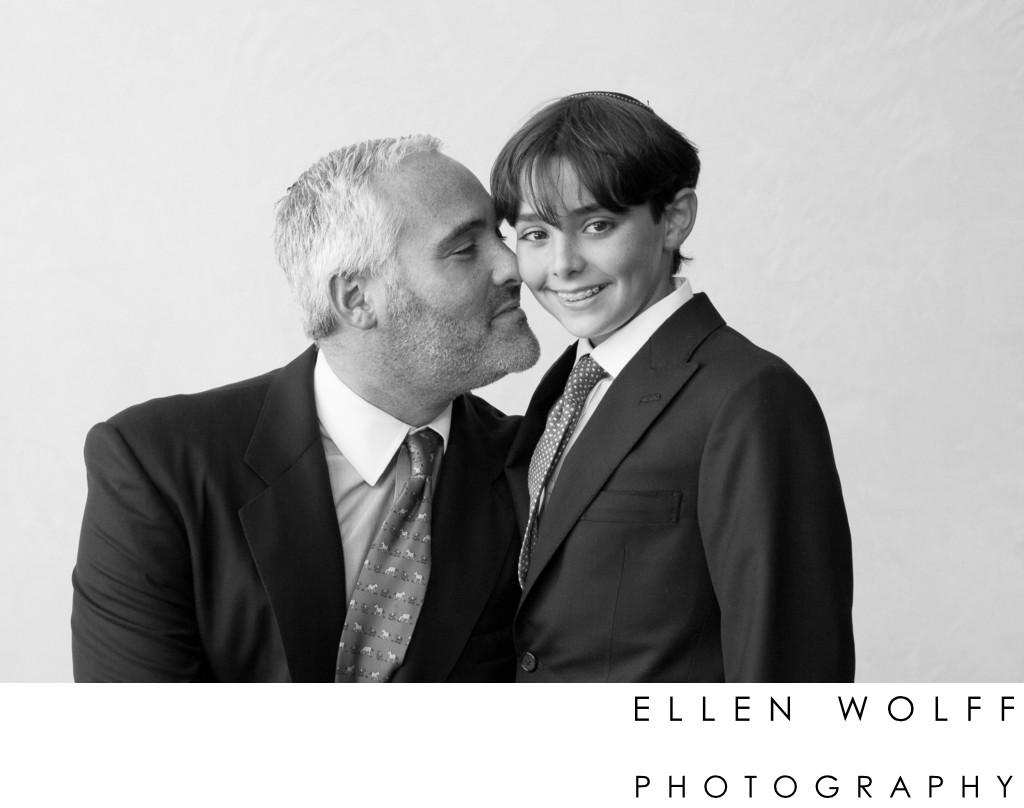 Rodeph Sholom NYC Bar Mitzvah father son portrait