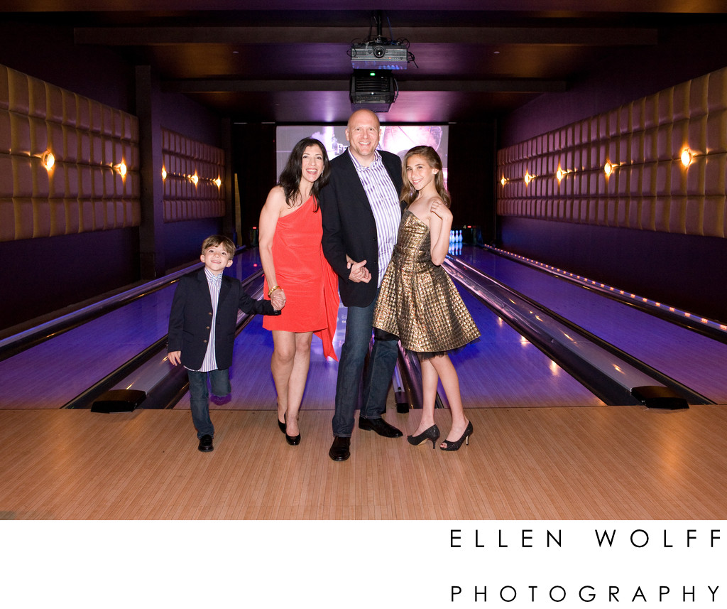 Lucky Strike Lanes NYC Bat Mitzvah photographer
