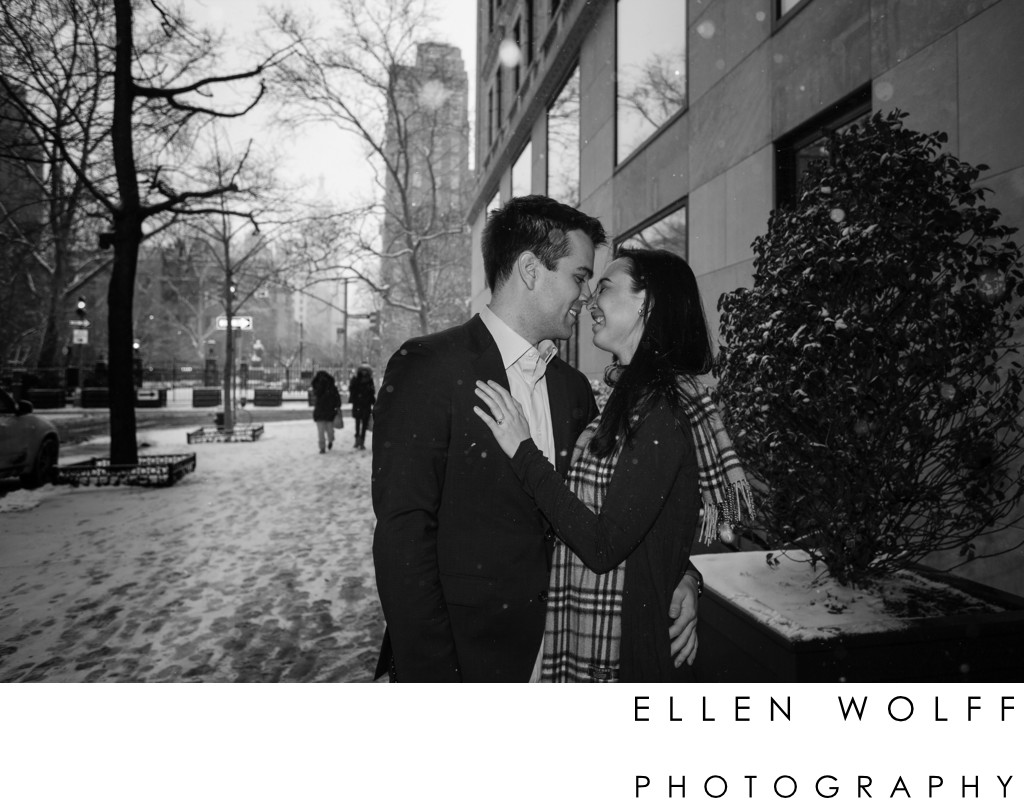 engagement photo gramercy hotel nyc