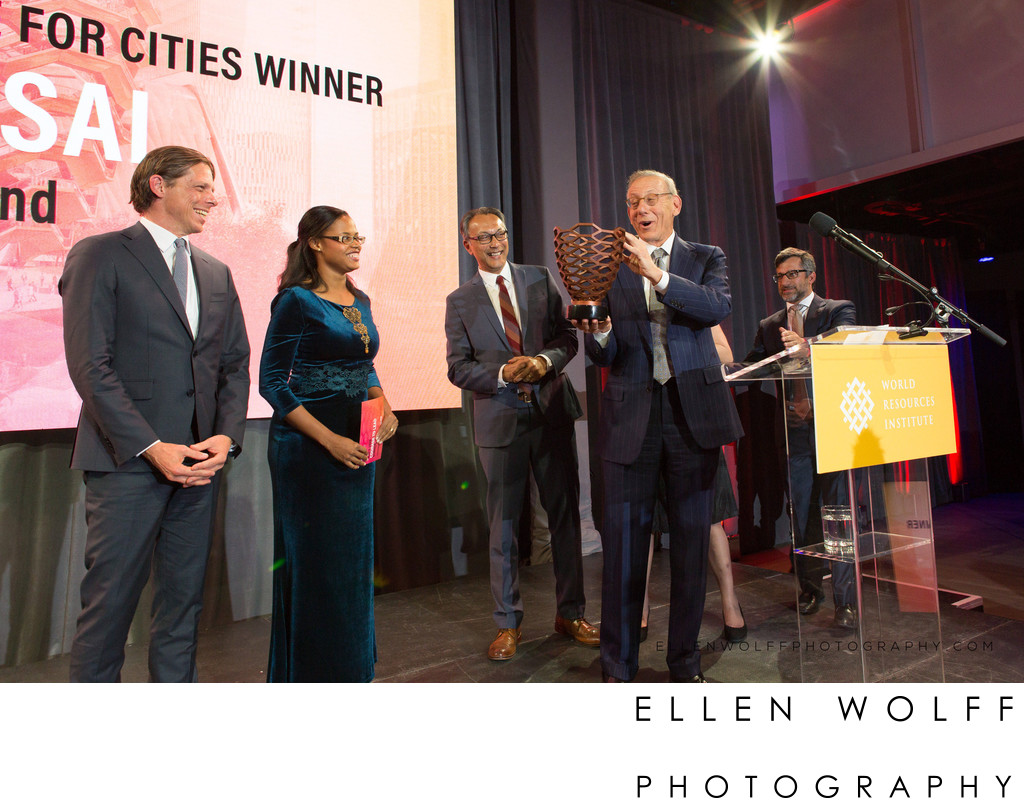 Winners of 2019 Ross Prize for Cities, with Stephen Ross