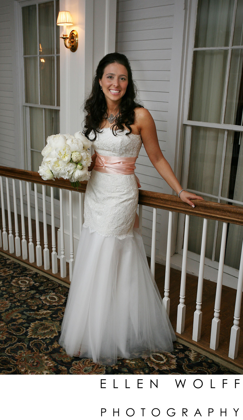 picture of the bride at Equinox Resort Vermont