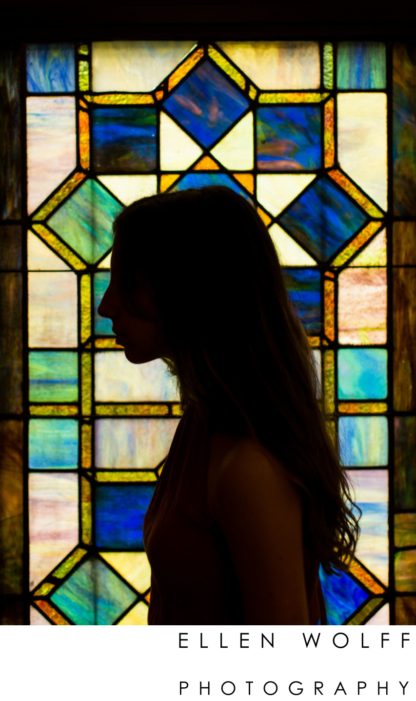 Bat Mitzvah Silhouetted Portrait