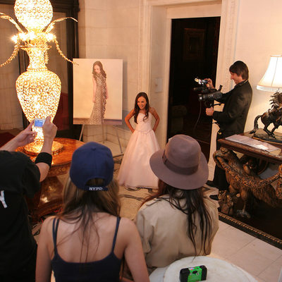 candid De Seversky Mansion Bat Mitzvah photo
