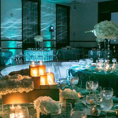beach theme bat mitzvah decor