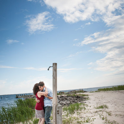 engagement photo session on a long island beach