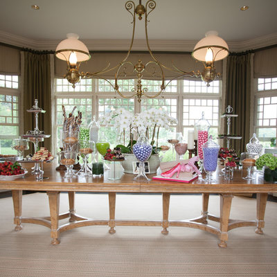Southampton bridal shower dessert table