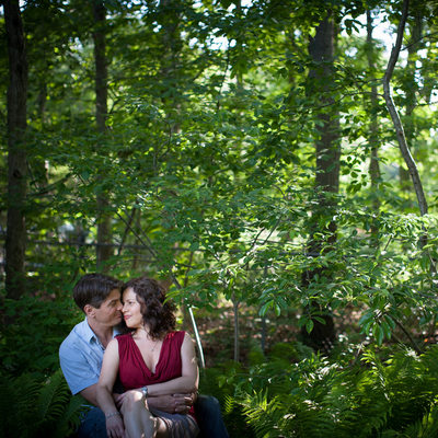 summertime outdoor engagement