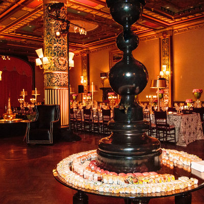 decor at a prince george ballroom event
