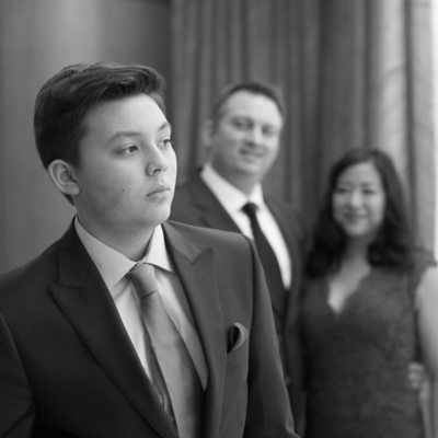 Formal bar mitzvah portrait Ritz Carlton White Plains