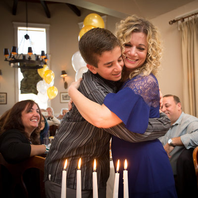 bar mitzvah candle lighting at Rothmanns Steakhouse