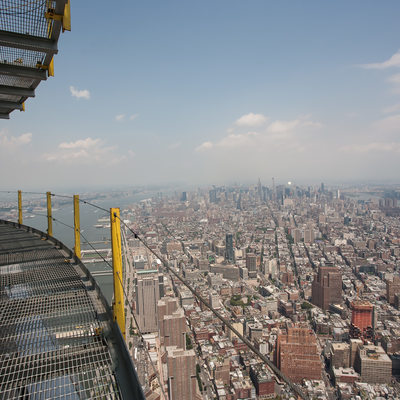 view looking north from the top decks on top of  1 WTC