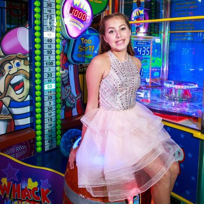 arcade game bat mitzvah portrait