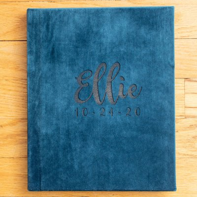 blue velvet bat mitzvah photo album