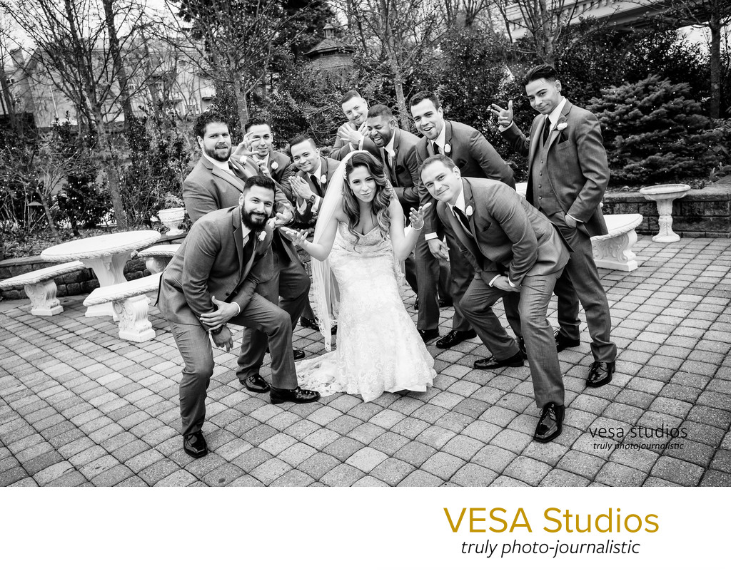 Bride and the Groomsmen - Westmount Country Club