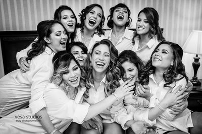 Bridesmaids having fun-Westmount Country Club Wedding