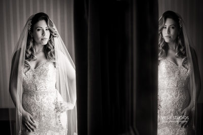 Beautiful reflection of the Bride at the Westmount