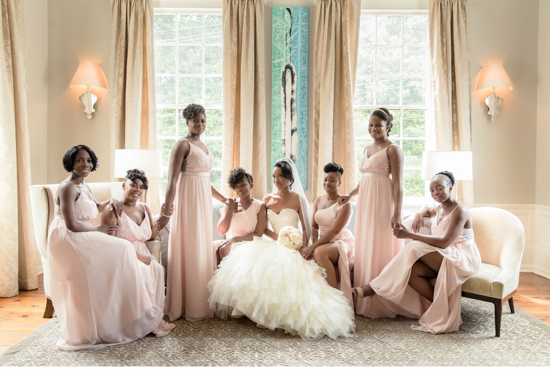 Bride and Bridesmaids at The Estate Buckhead