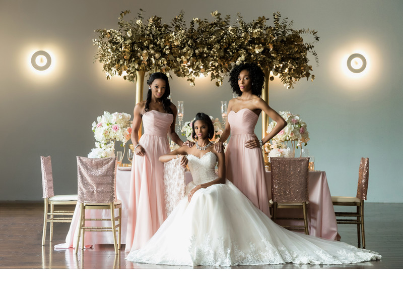 Bride and bridesmaids at Twelve Hotel Atlantic Station