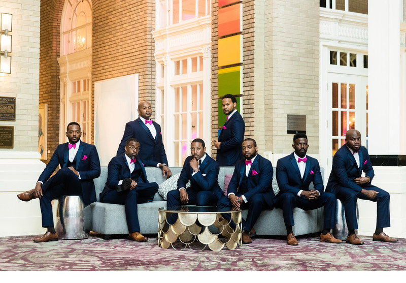 Dapper groomsmen at Georgian Terrace wedding