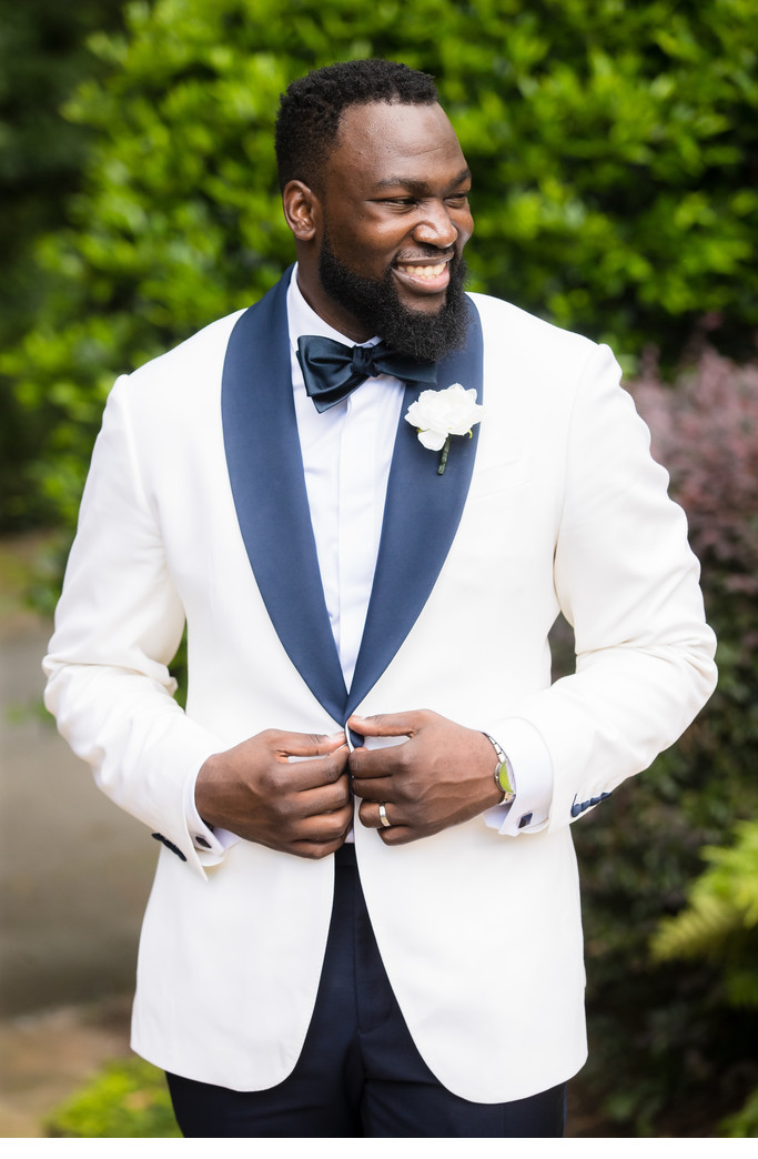 Groom Portrait at the Estate in Buckhead