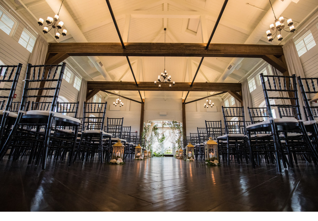 Fox Hall Wedding | Stables Ceremony decor
