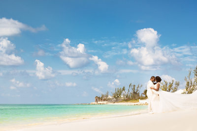 Bahamas Destination wedding photo on the beach