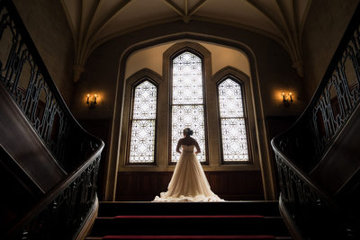 Breathtaking photo of bride at Callanwolde fine arts