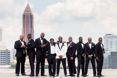Groom and Groomsmen on Ventanas Helipad