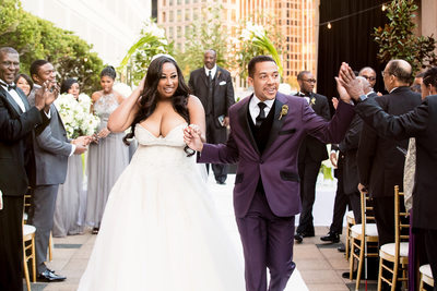 Bride and Groom at four seasons wedding in Atlanta