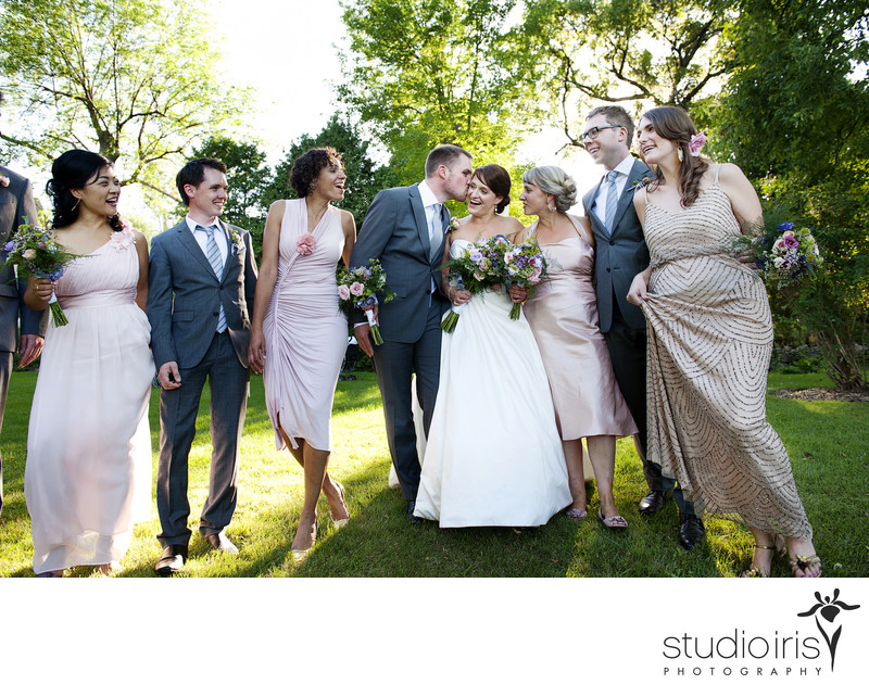 bridal party photoshoot