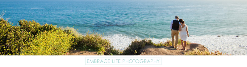 Bride + Groom Wedding Portrait During Malibu Elopement