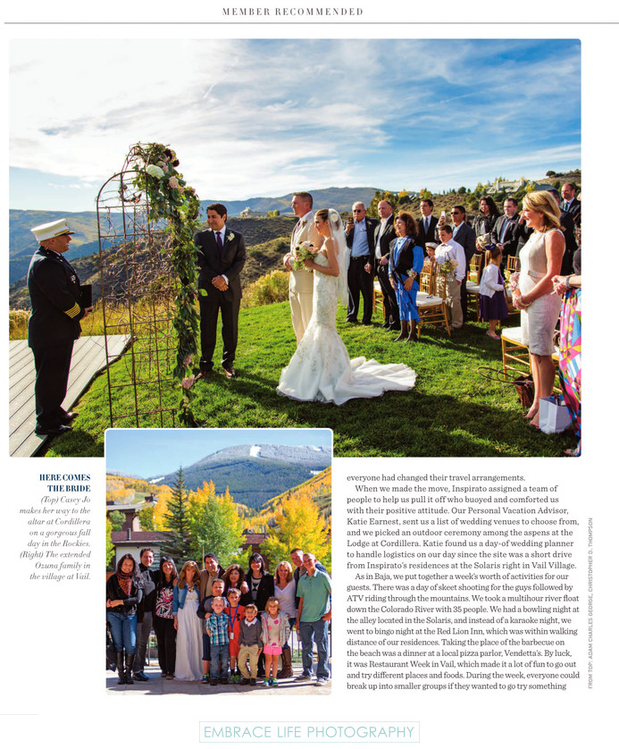 Colorado Rocky Mountain  Wedding - Inspirato Magazine