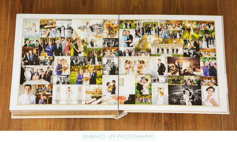 Calamigos Equestrian Wedding Photography Album Collage
