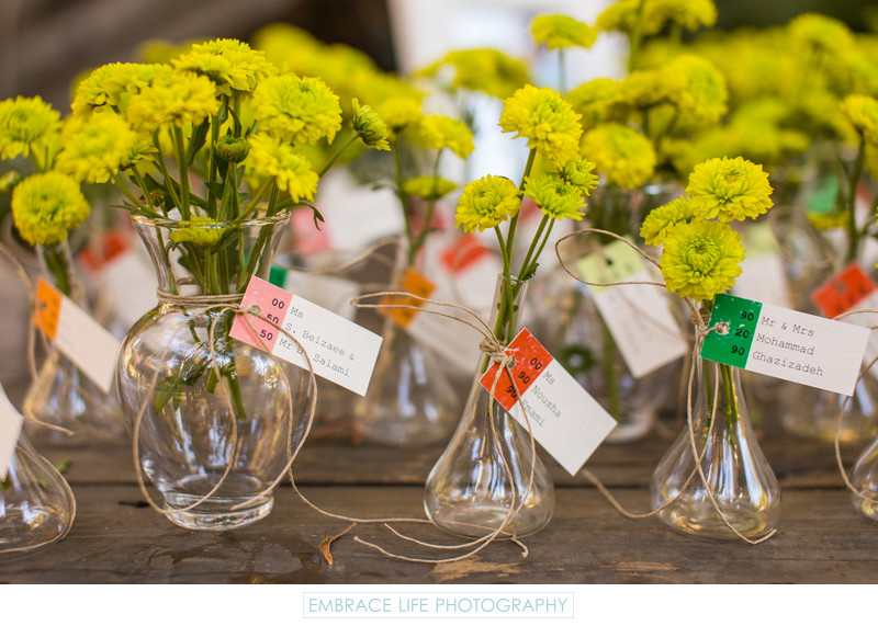 Calamigos Ranch Wedding in Malibu - Floral Place Cards