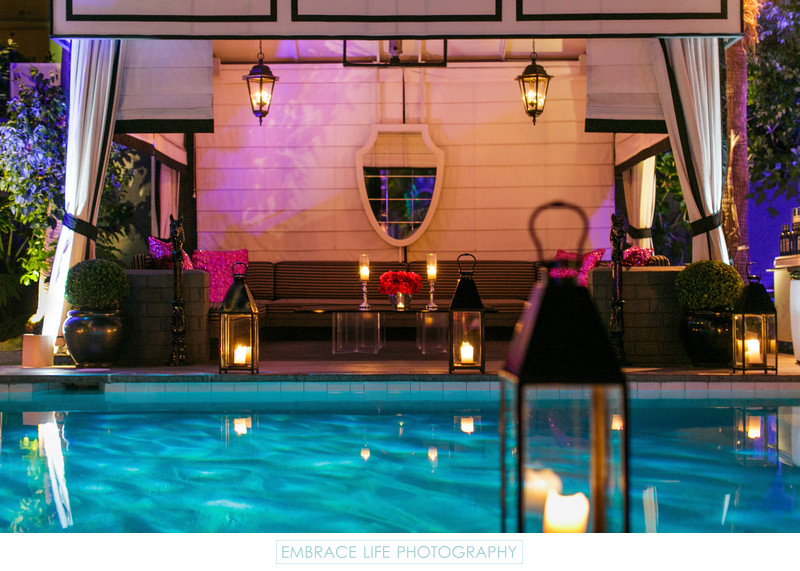 Lanterns Light pool Cabana