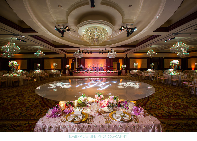 Four Seasons Westlake Village Wedding Sweetheart Table